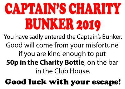 2 x Golf Captains Bunker Charity Display boards. Golf Club Charity Year.