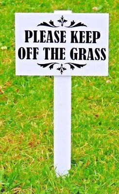 10 x 'Please Keep Off The Grass Sign' H duty,  Double sided, GOOD SIZE