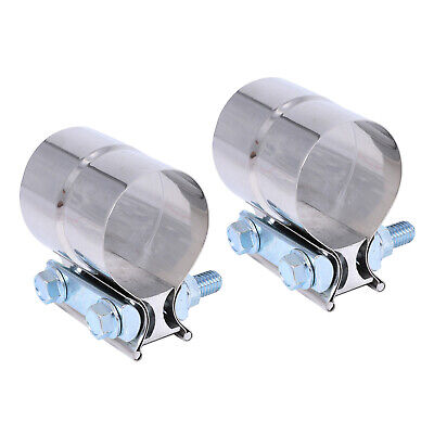 Shiwaki Stainless Lap Joint Clamp Sleeves Band For Chevy 2.5 2 1//2 Exhaust OD Pipe