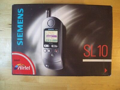 Siemens Sl 10 Telefono Movil Mobile Cellular Sl10 Vintage Boxed Con Caja Gsm New