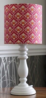 Handmade Gutermann French Cottage Ornamental Palm Pink 15cm dia LAMPSHADE 1 of 2