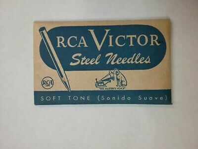 Rca Victor Steel Phonograph Needles  Soft Tone For Victrola Nos 100 Per Package