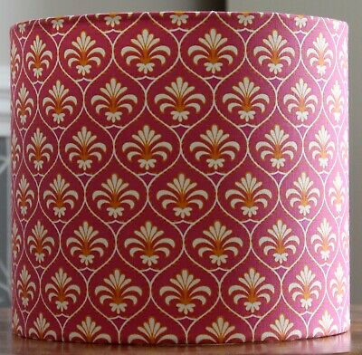 Handmade Gutermann French Cottage Ornamental Palm Pink 20cm dia LAMPSHADE