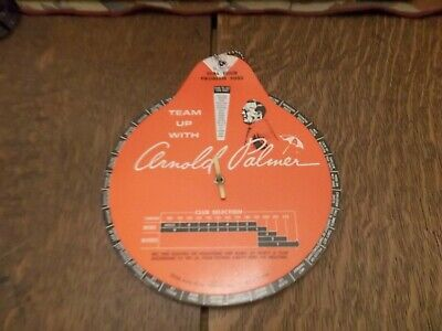 Vintage 1966 Team Up With Arnold Palmer Golf Dial Cheater