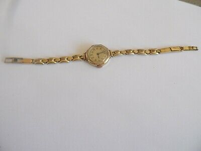 ART_DECO 333/585er GOLD DAMENARMBANDUHR MECHANISCH 1927 SUPER DESIGN