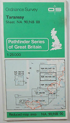 1978 Old Vintage OS Ordnance Survey 1:25000 Pathfinder Map Taransay NA 90/NB 00
