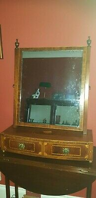 19th Century George III Mahogany Dressing Table Mirror