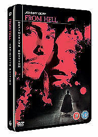 From Hell (DVD, 2007, 2-Disc Set) Definitive Edition Steelbook