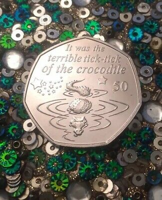 🇮🇲 2019 Isle of Man Tick-Tock Crocodile - Peter Pan 50p coin Collectors Rare