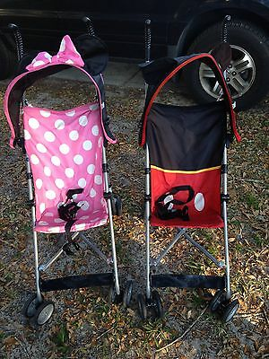 Disney Mickey Mouse Baby Umbrella Stroller With Canopy Lightweight Toddler