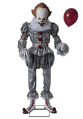 Pennywise Animated Prop IT Evil Scary Clown Animatronic Halloween Life Size