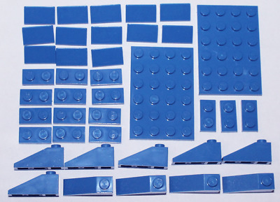 4 x Lego Car Windows Fronts Curved SMALL BLUE *Cheapest on FAST FREE POST