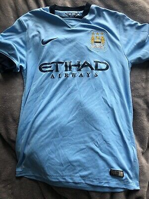 Manchester City Home Shirt 14-15 Nike Size M