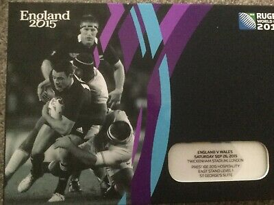 England v Wales Rugby World Cup 2015 Hospitality Pack Ticket