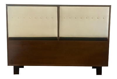 George Nelson Walnut Headboard Herman Miller Full Size Bed Mid Century Modern