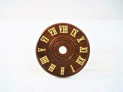 "Wood Cuckoo Clock Dial Face 2 3/8"" w/ 3 Sm. Nails For Parts Germany Regula 25-M"