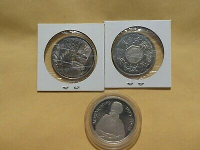 Ucraine,1 Lot Of 3 Diffe. Uncirculated Commemorative Coins 200.000 Karbovanets