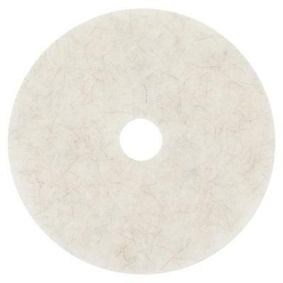 """NEW 3M Natural Blend White Pad 3300, 20"""" (Case of 5)"""