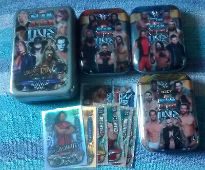 WWE Topps Slam Attax Live Full Base Set 33 to 392 With Tins Silvers Relic CC