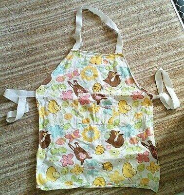 Young Girls fun animals & flowers pattern apron from Sainsburys
