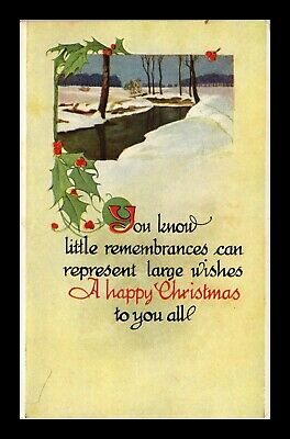Dr Jim Stamps Us Happy Christmas Winter Scene Topical Greetings Postcard