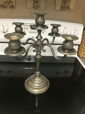 "VINTAGE Godinger Silver Art Company Candelabra for 5 candles 13 1/4"" Tall"
