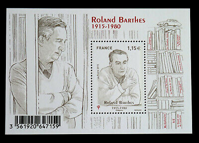 "bloc-feuillet neuf ""Roland Barthes 1915-1980"" 2015 YT F5006"