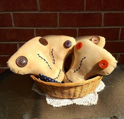 Primitive Skeleton Halloween Ornies, Bowl Fillers, Farmhouse Tucks