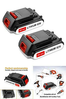 2 Pack Replacement 20v MAX 2.0ah Lithium Ion Battery Only-Craftsman Bolt On New
