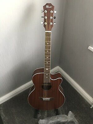 Lindo Feeling Series Electro Acoustic Guitar with LCD Tuner XLR/Carry Bag,Guitar