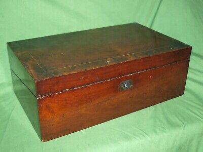 "Large Vintage Mahogany Writing Slope 16"" wide read description please"