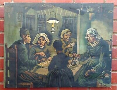 """Vincent Van Gogh Oil Painting On Canvas Selaed Rare 35"""" X 28"""""""
