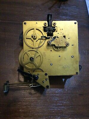 German Welby Division Clock Co Movement (Possibly Hermle) Two Jewels Unadjusted