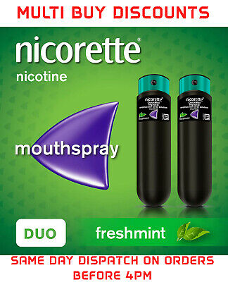 Nicorette Quickmist Freshmint  Mouthspray - 2 x 150 sprays