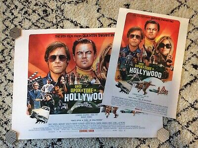 """ONCE UPON A TIME IN HOLLYWOOD QUAD UK cinema poster. 30""""x40"""" + Portrait Version"""