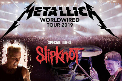 2x Seats METALLICA + SLIPKNOT - Melbourne Tuesday October 22nd Concert Tickets