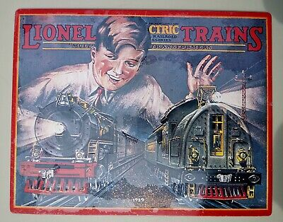 "Lionel Electric Trains 1926 Catalog Cover 11"" x 14"" Tin Sign"