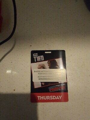 New York Comic Con THURSDAY Pass Ticket Badge  - NYCC 2019 verified