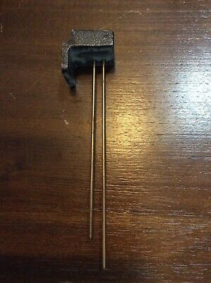 Vintage Antique Clock 2 Chime Rod Mounting Block Assembly Bar Gong Parts