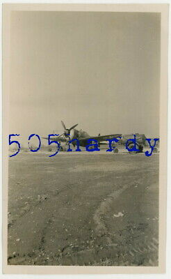 WWII US GI Photo - Republic P-47 Thunderbolt On Runway w Fuel Trailer & Scaffold