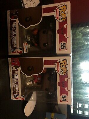 Funko Pop Basketball Michael Jordan #55 Bulls Black Jersey Fanatics & #54