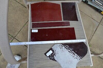 Stained Glass Pieces, Large Red, Transparent, Various Shades
