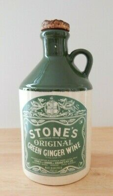 Vintage Stones Original Green Ginger Wine Jug (empty)