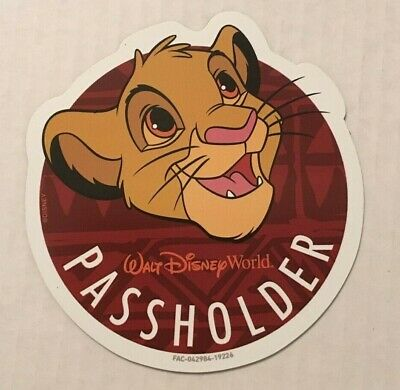 Authentic Disney Annual Passholder Simba Magnet Lion King Limited OFFICIAL WDW