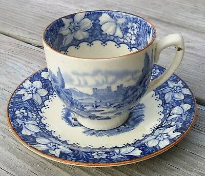 Antique Wood & Sons Demitasse Cup & Saucer Colonial Blue