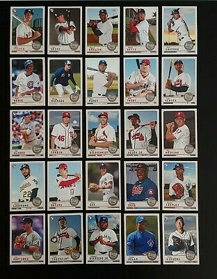 2019 Topps Archives Snapshots Complete Set 50 Cards Alonso Trout Vlad Acuna