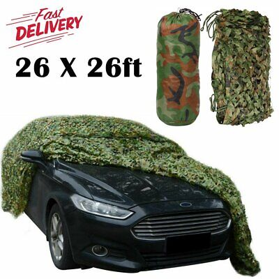 26ft X 26ft Woodland Camouflage Netting Military Army Camo Hunting Shooting Net