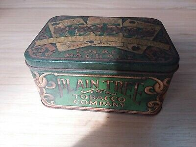 Vintage tabacco tin plain tree tobacco