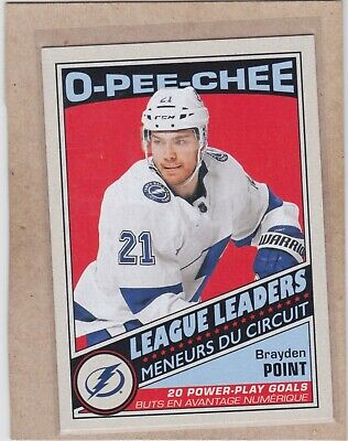 19/20 Opc...brayden Point...retro League Leaders...# 585...Lightning
