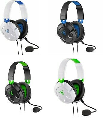 Turtle Beach Recon 50P 50X White, Black Gaming Headset Headphones Xbox One PS4